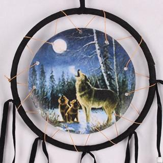 Wolves Dream Catcher Wall Hanging Home Decor