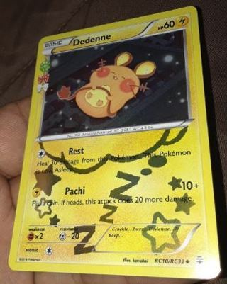 1 Pokemon Card Dedenne RC10/RC32 Uncommon Holo Pokemon Anime Manga TCG
