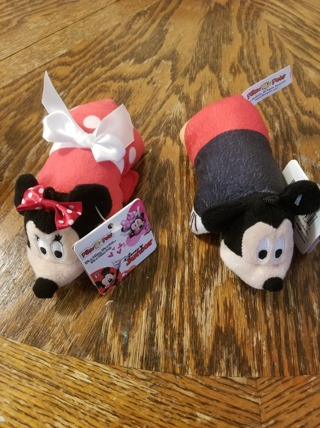 Disney Junior Mini Pillow Pets Plush,Set Of 2 Mickey And Minnie