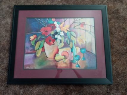 Painting in a black frame