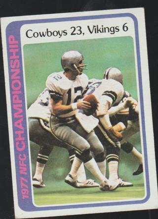1978 Topps #166 Roger Staubach Dallas Cowboys Football Card