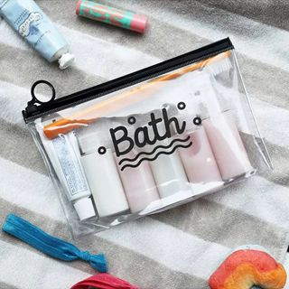 Travel Cosmetic PVC Pouch Waterproof Transparent Makeup Bag