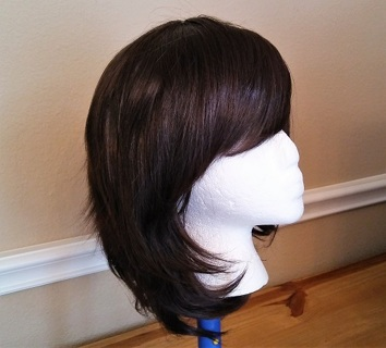 Brand New Dark Brown Soft Layered Capless Synthetic Wig