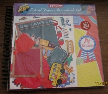 school deluxe scapbook kit BNIP includes die-cuts frames stickers and more great for christmas