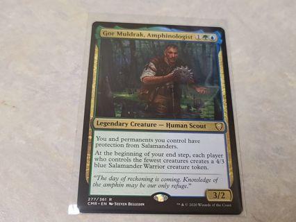 Magic the gathering mtg Gor Muldrak Amphinologist rare card Commander Legends
