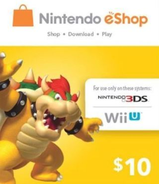 1 $10.00 eCash Nintendo eShop Gift Card $10 NINTENDO Wii U / 3DS Digital Code FREE SHIPPING