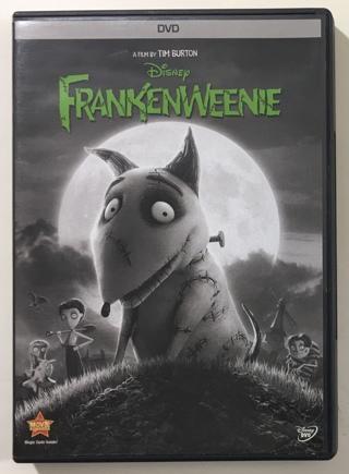 Disney FrankenWeenie DVD Movie - Film by Tim Burton - Mint Disc!