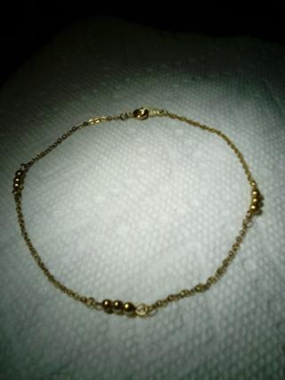 Dainty Gold Tone Ankle Bracelet