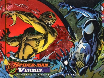 1994 Spider-Man: Collectible/Trade Card: Spider-Man vs Vernim