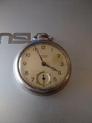 Vintage Westclox Scotty pocket watch for repair