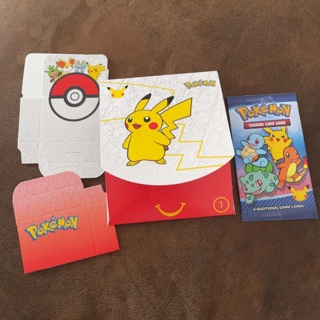 Pokemon McDonalds 25th Unopened Happy Meal Pack