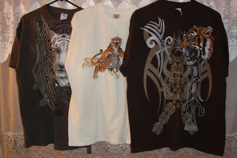 ☘☘☘☘☘ $ave Money on 3 Tiger Animal Planet T-Shirts ☘☘☘☘☘