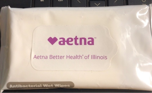 Brand New: Pocket Sized Antibacterial Cleansing Wipes. Issued by AETNA Insurance. Never Used.