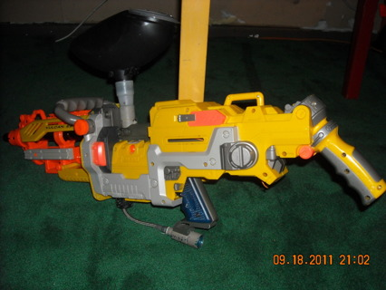 Custom made paintball nerf gun body