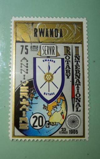 *( MINT )* 1980 * RWANDA * Stamp *(75th Anniversary Rotary International)*