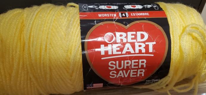 "NEW - Red Heart Super Saver Yarn - ""Lemon"""