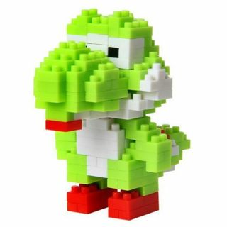 Super Mario Yoshi DIY Toy Figure Model Luigi Building Blocks Intelligence Game