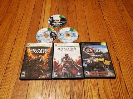 5 XBOX Games Lot