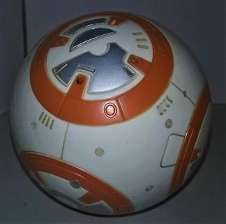 """Hard plastic LFL """"Star Wars"""" BB-8 Droid with top & 2010 Funko Stormtrooper inside  5"""" diameter 9 oz."""