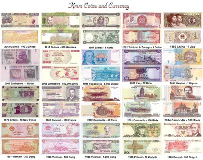 World Currency Set 20 Notes Poland Guinea China And More Unc
