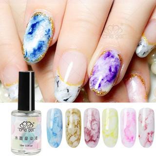 Nail Art Polish Soak Off Gel Marble Pattern Ink Smudge Gradient Manicure Smudge