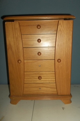 Used Standing Jewelry Box With Extras! Free Shipping!!!