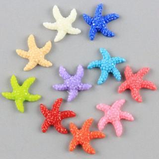 20Pcs Mini Resin Cute Multicolor Miniature Starfish Fish Tank Aquarium Ornaments Decor