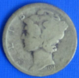 1919 D Mercury Head Silver Dime