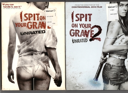 I SPIT ON YOUR GRAVE ~ 2 DVD Lot, Part 1 and 2 Unrated Versions ! Rare Anchor Bay Horror, Gore