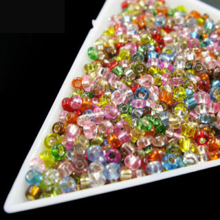 1500pcs 2mm Czech Glass Seed Spacer Beads