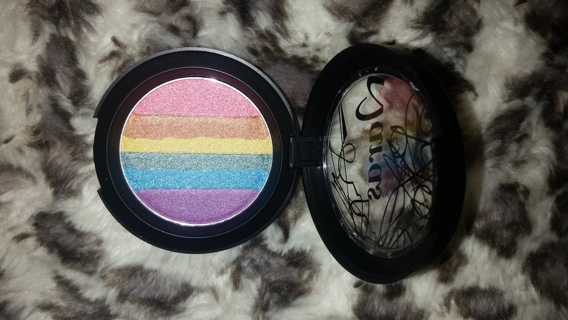 FREE NEW RAINBOW HIGHLIGHTER COLOR SHADOW PALETTE FOR FACE, EYES & BODY