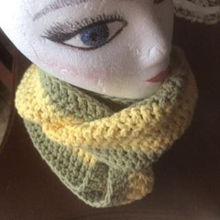 Wool Infinity scarf .