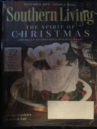 """""""Southern Living"""" Magazine - December 2019 DOUBLE ISSUE """"The Spirit of Christmas"""" NRFP! Ships FREE!!"""
