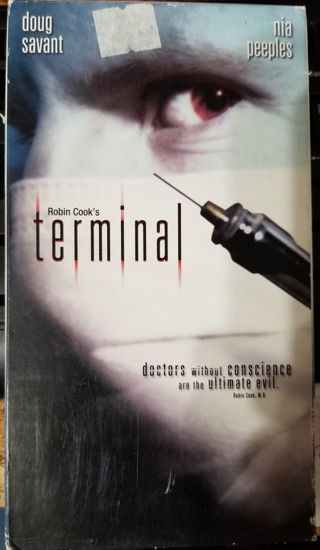 Terminal by Robin Cook on VHS