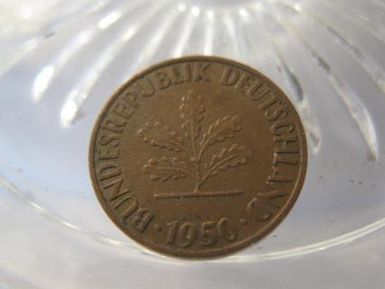 (FC-647) 1950-G Germany: 1 Pfennig