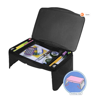 FOR COLLEGE! Folding Lap Desk, laptop desk, Breakfast Table, Bed Table, Serving Tray