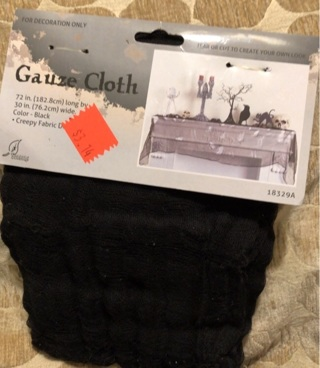 Black Gauze Cloth