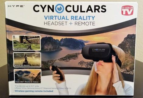 b8ba342e080c Cynoculars Virtual Reality Headset W  Remote - As Seen On TV - BRAND NEW!