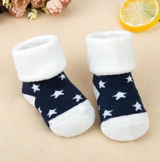 1 Pair Newborn Cotton Winter Autumn Baby Girls Boys Kids Socks Infant Striped Terry Warm slippers