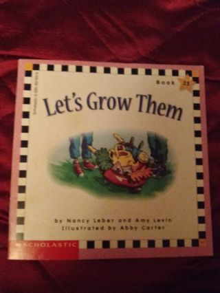 Used Childrens Scholastic Book Let's Grow Them