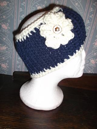 Cute Handmade Blue/Pink Crocheted / Knitted Ear Warmers / Headband