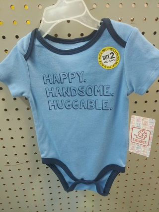 NEW! Happy/Handsome/huggable ONESIE 3/6M