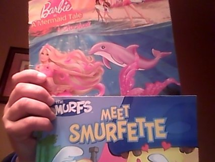 """2 Books: """"Bargie in A Mermaid Tale"""", and """"Meet Smurfette""""..."""