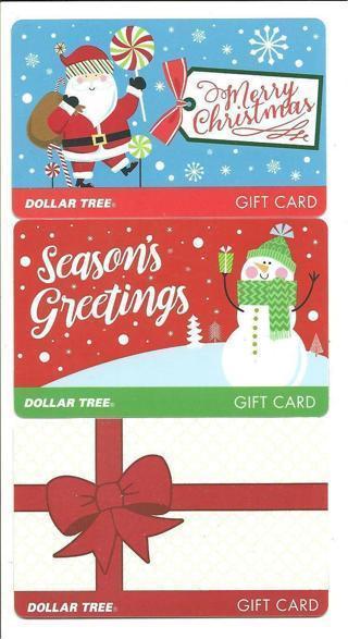 $5 DOLLAR TREE CHRISTMAS GIFT CARD