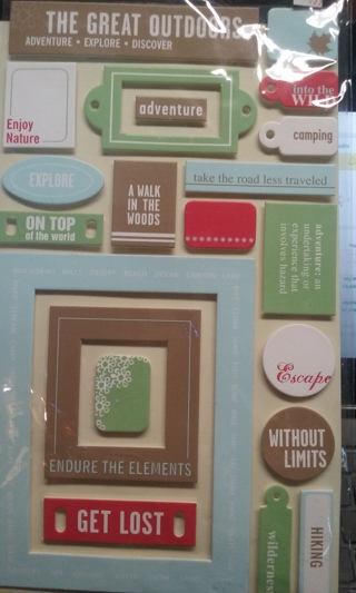 The Great Outdoors Scrapbook stickers