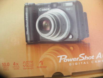 Canon Powershot A640 10 MP Digital Camera with 4x Optical Zoom