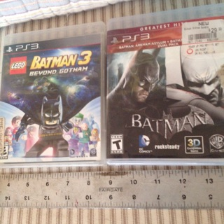 PS3 Batman Arkham Asylum dual pack 2 versions & Batman Beyond LEGO !