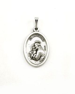 ~SAINT ANTHONY MEDALLION~ with free 18 inch Silver Plate chain with lobster clasp and extender~