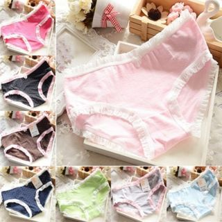 Sexy Women Lace Panties Lingerie Soft Cotton Underwear Briefs Knickers Thongs