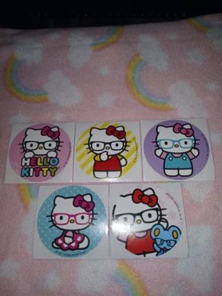 "❤✨❤✨❤️5 BRAND NEW LARGE KAWAII ""HELLO KITTY"" NERD STICKERS❤✨❤✨❤"